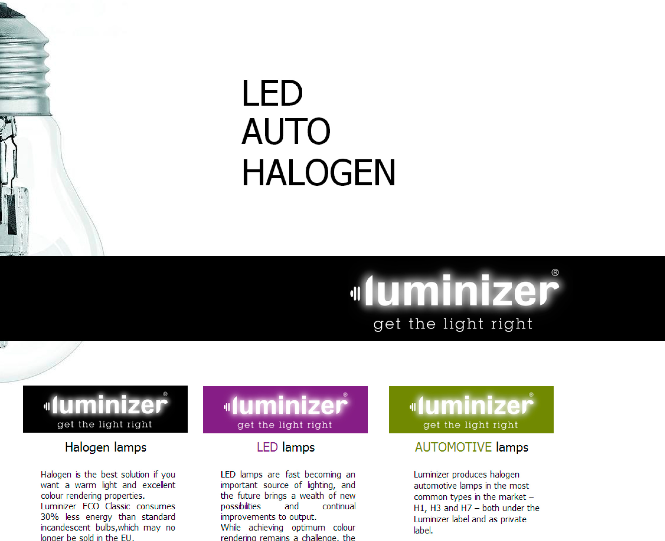 Luminizer - Lyskilde leverandør