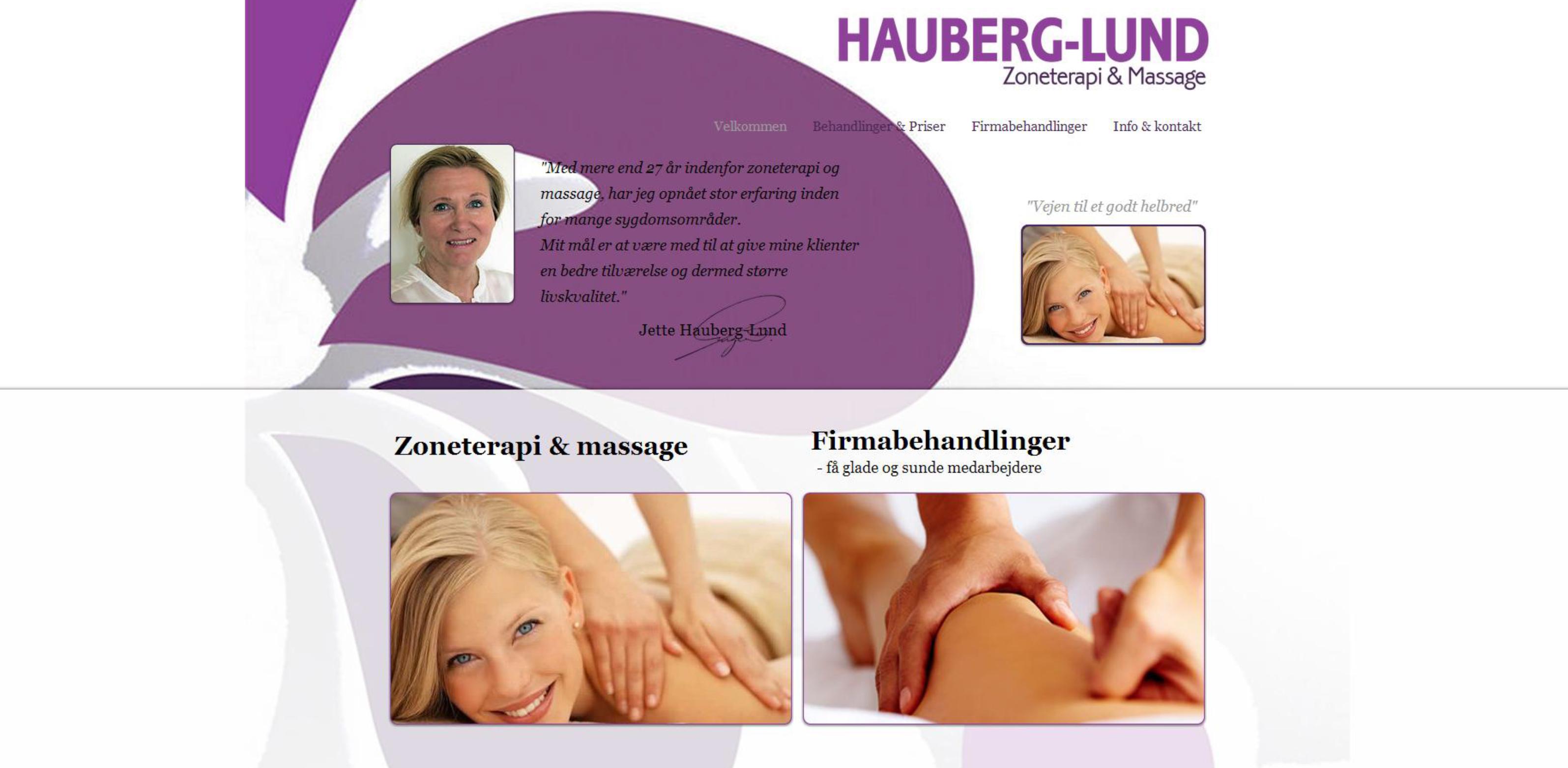 Hauberg-Lund Zoneterapi- & massage
