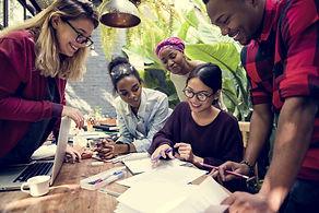 Friends People Group Teamwork Diversity.