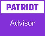 Patriot advisor badge with referral link