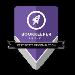 Bookeeper Launch Certificate