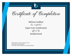 BuilderTrend SuperUser Certified