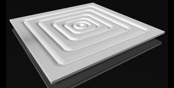 Square Ripple Plate