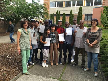 Abschlussklasse ESF-BAMF-Kurs 2016