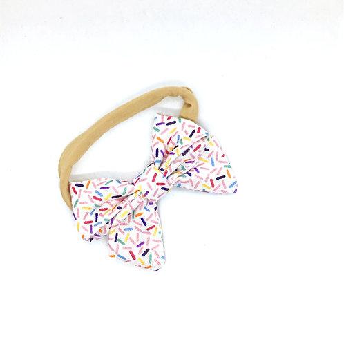 "Sprinkles ""Petite"" size Bow Headband"