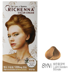 [리체나] 컬러 크림 8YN 골든블론드 염색약