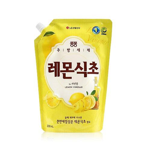 [퐁퐁] 레몬식초 주방세제 리필 1.2L