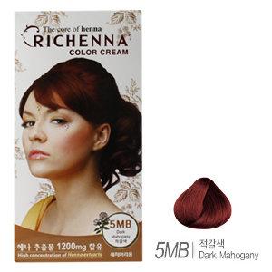 [리체나] 컬러 크림 5MB 적갈색 염색약