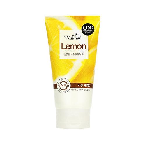 [온더바디] 더내추럴 산뜻 레몬 클렌징폼 120g