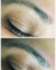 Brow waxing before and after