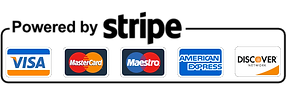 Stripe payment, Visa, Mastercard, Maestro, American Express and Discover payment method