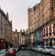 City centre of Edinburgh, Scotland