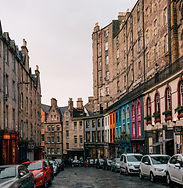 City centre of Edinburgh, Scotland