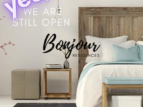 We're still OPEN!