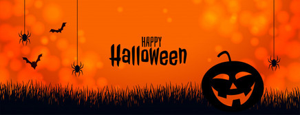 orange-halloween-banner-with-pumpkin-spi