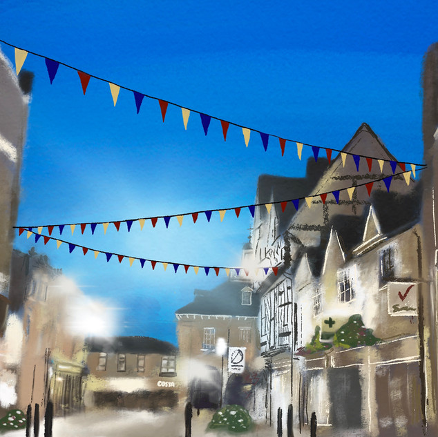 illustration of Warwick, England