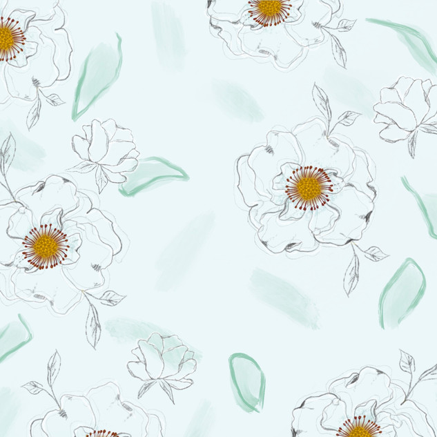 large-scale floral pattern