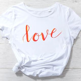 hand lettered shirt