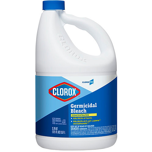 Clorox® Germicidal Bleach, Concentrated, 121 Ounce Bottle