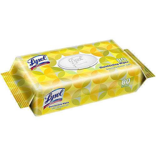 LYSOL® Brand Disinfecting Wipes Flatpack, Lemon & Lime Blossom Scent, 80/Pack