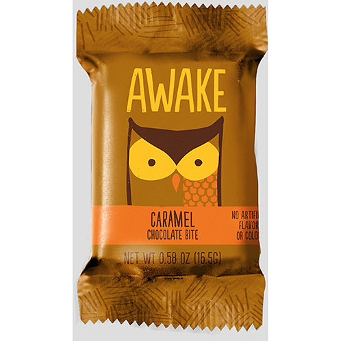 Awake Caramel Chocolate Bites, 0.47 oz., 50/BX