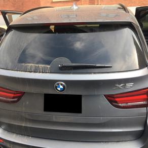 BMW X5 - Parking Lot Cleanup