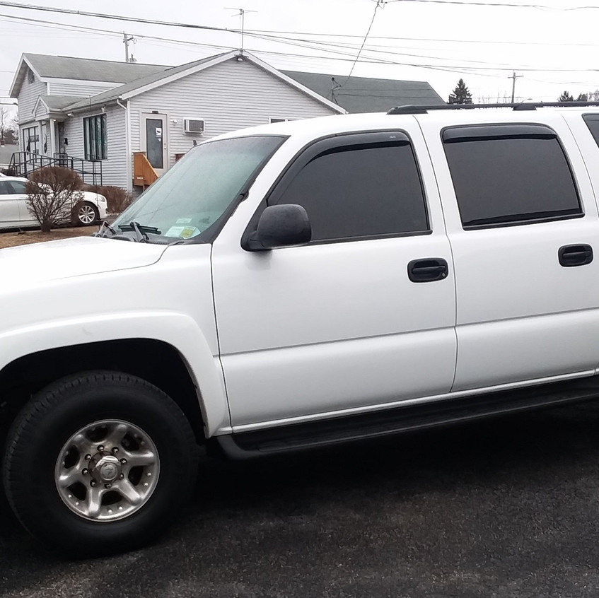 This '04 Chevy Suburban has over 220K miles and is still running strong! After our Signature Detail service, its back to looking how it should.