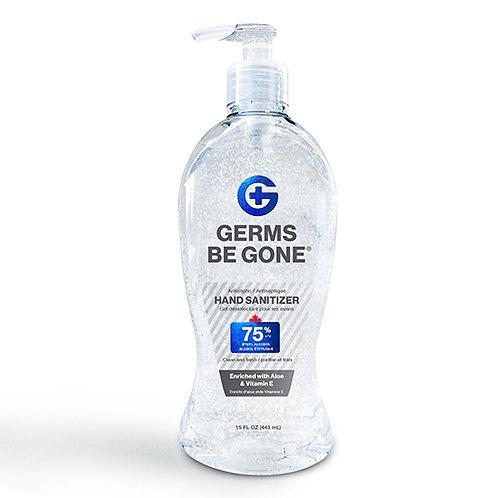 W.B. Mason Co. Hand Sanitizer, 15-16 oz Pump Bottle
