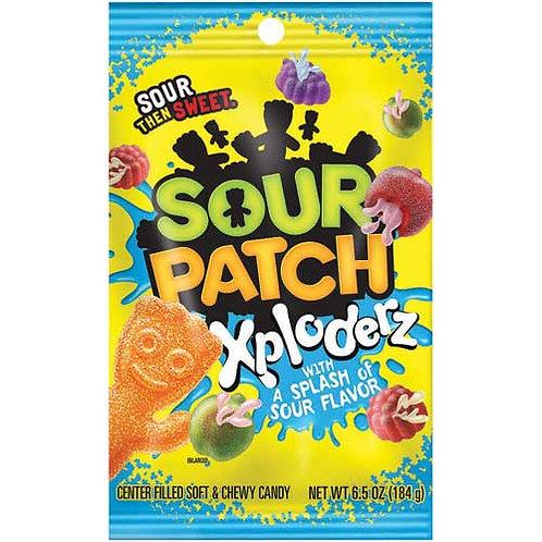 Sour Patch® Xploderz Soft & Chewy Candy Peg Bag, 12/CS