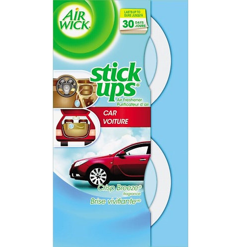Air Wick® Stick Ups Car Air Freshener, 2.1 oz, Crisp Breeze