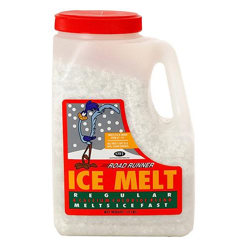 Road Runner Ice Melt, Jug, 12 lbs., White