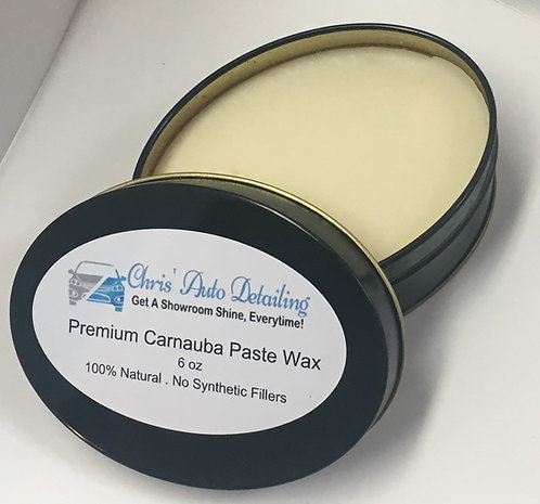 Premium Carnauba Paste Wax (6 oz.)