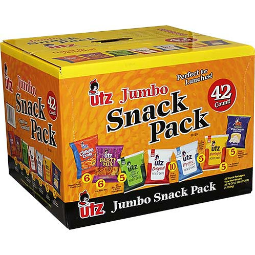 Utz® Chips and Cheese Curlz Jumbo Variety Mix, 1 oz. - 1.25 oz. Bags, 42/BX