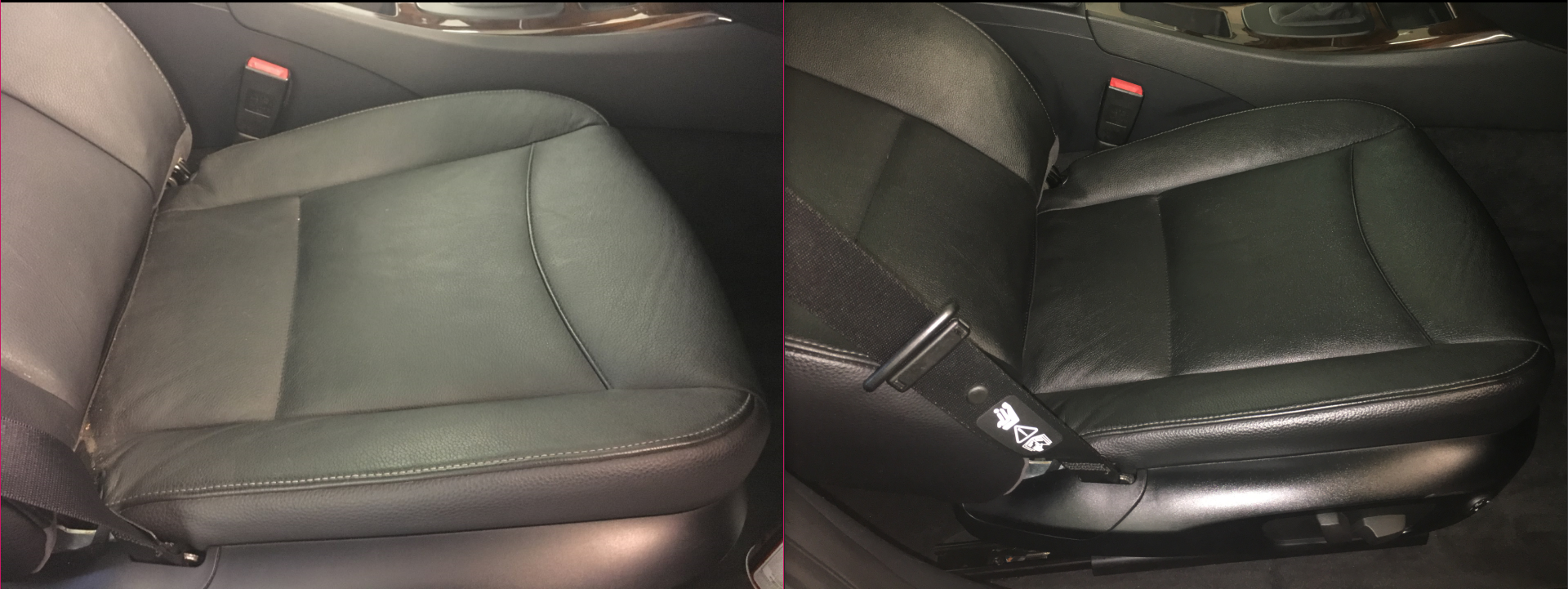 Leather Seats Cleaned & Conditioned