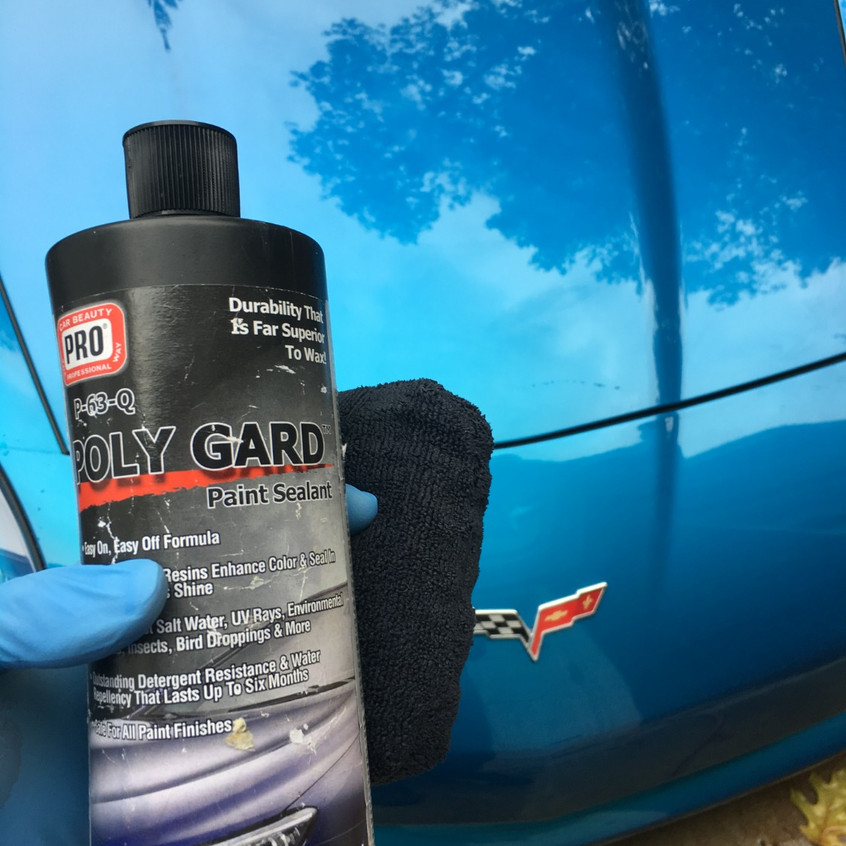 Poly Gard is one of the sealants we use. It provides a great gloss and months of protection.