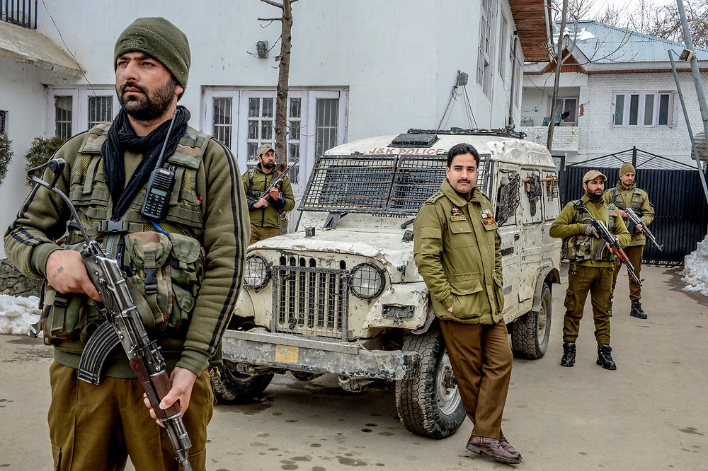 Officer Ashiq Tak, the commander of a tactical police unit in southern Kashmir.