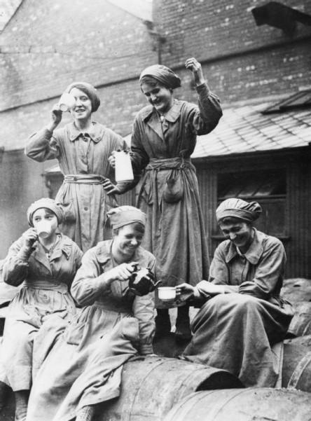 ladies enjoying tea
