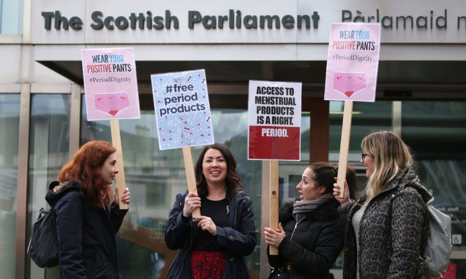 Monica Lennon MP in her Campaign for free sanitary products