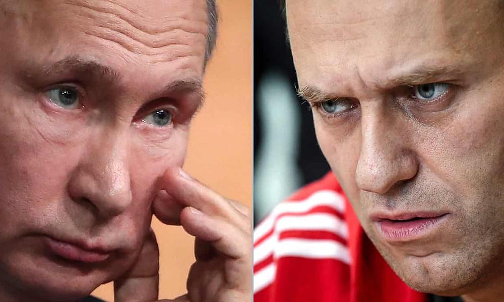 Putin and Navalny