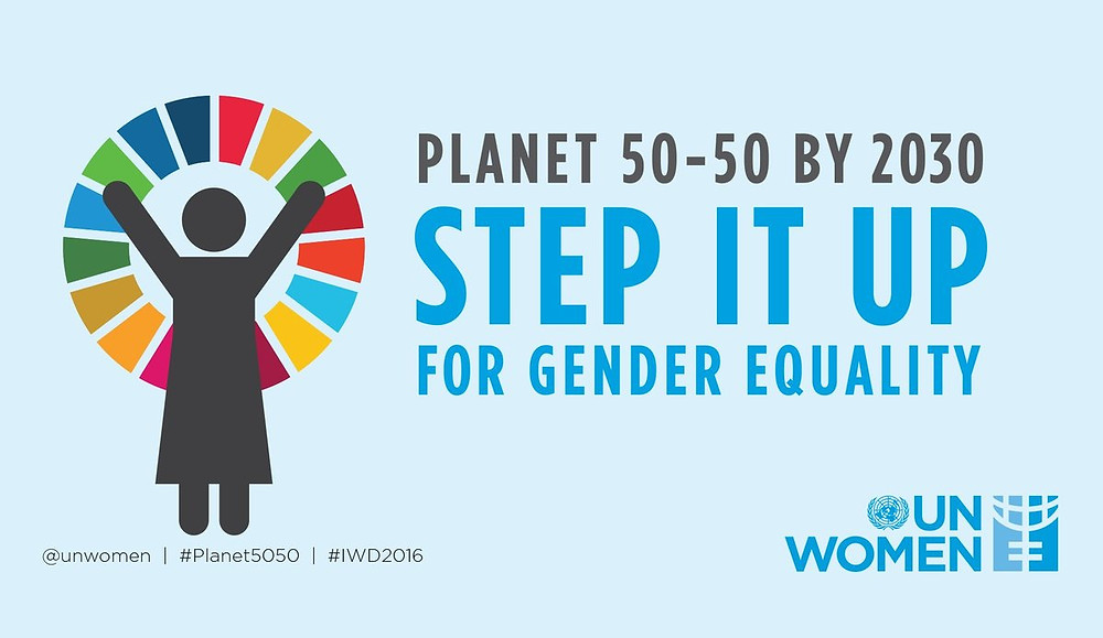 poster for the planet 50/50 initiative launched by un women