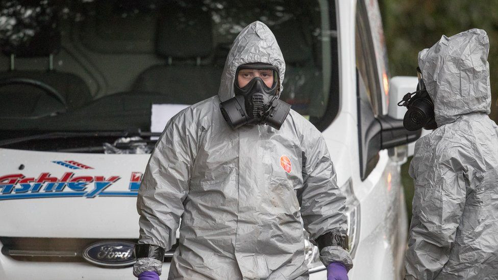 Investigators working near Salisbury where two other Russians were poisoned