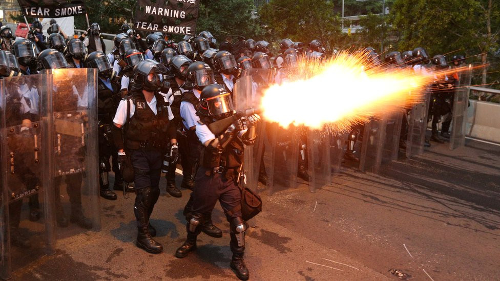 Police brutality in the Hong Kong protests