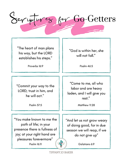 Scriptures for Go-Getters (Free w/ Code: Free)