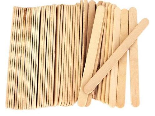 """6"""" Disposable Wooden Wax Spatulas"""