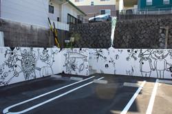 『うなぎのように長い壁画』30M 2015