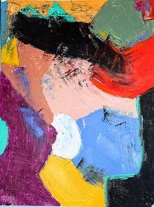 Landscape #3 (oil pastel on 18x24 paper,