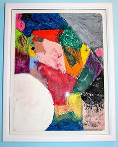 Landscape #1 (oil pastel on 18x24 paper,