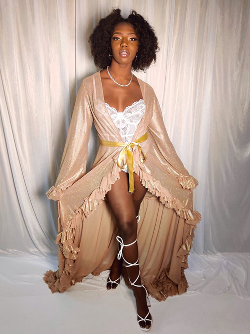 Golden Hour Ruffle Robe