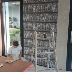 Tapezierarbeiten Innenbereich, Tapete Gewerberaum, Maler Zieri - Beckenried Nidwalden