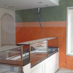 Malerarbeiten Innenbereich, farbige Wand, Maler Zieri - Beckenried Nidwalden